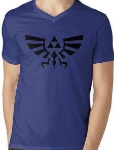 Legend Of Zelda Tri-Force Mens V-Neck T-Shirt