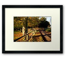 Church Lane, Twyford Framed Print