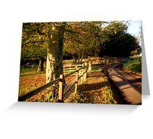 Church Lane, Twyford Greeting Card