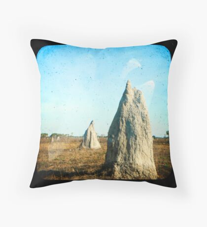 Termite Homes Throw Pillow