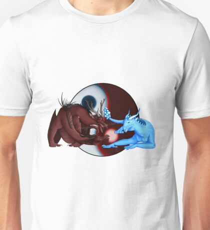 Fire and Ice Dragons Design  Unisex T-Shirt