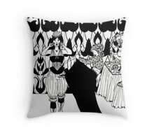 lady with corset Throw Pillow