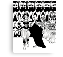 lady with corset Canvas Print