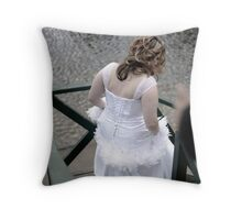 The Framing Groom. Throw Pillow