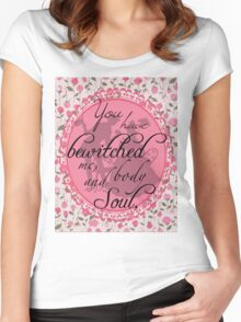 "Jane Austen's ""Pride & Prejudice"" Inspired Victorian Silhouettes  Women's Fitted Scoop T-Shirt"