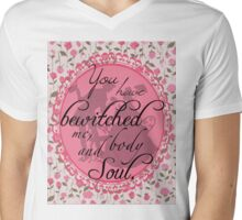 "Jane Austen's ""Pride & Prejudice"" Inspired Victorian Silhouettes  Mens V-Neck T-Shirt"