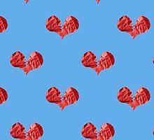 Broken Paper Heart v2 Tiled by SCRTSQRL