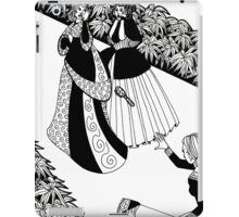 lady throwing a brush iPad Case/Skin