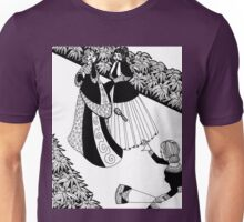 lady throwing a brush Unisex T-Shirt