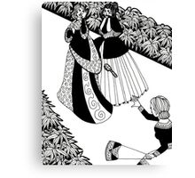 lady throwing a brush Canvas Print