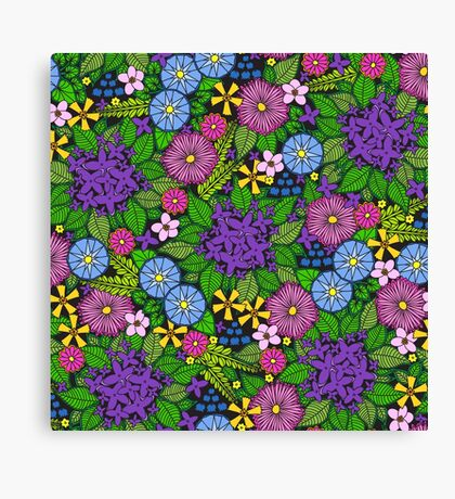Wild Wildflowers Canvas Print