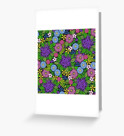 Wild Wildflowers Greeting Card