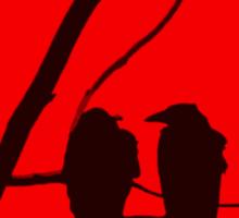 Love Birds Maybe Red and Black Design Sticker