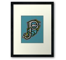 P is for Pussycat  Framed Print