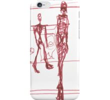 "giacometti's ""city square"" iPhone Case/Skin"