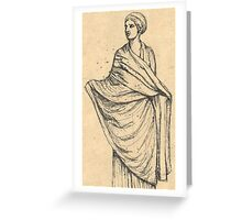 sculpture of woman in wet drapery Greeting Card