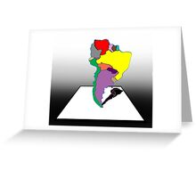 Anamorphic South America Greeting Card