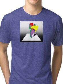 Anamorphic South America Tri-blend T-Shirt