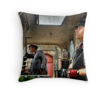 Engine Drivers Throw Pillow