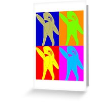 Left Shark Super Bowl POP ART (Warhol) Half Time Dancing Shark 2015 Greeting Card