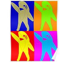 Left Shark Super Bowl POP ART (Warhol) Half Time Dancing Shark 2015 Poster