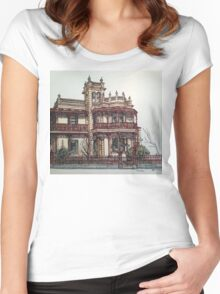 Phryne Fisher's house 'Wardlow'©.  Women's Fitted Scoop T-Shirt