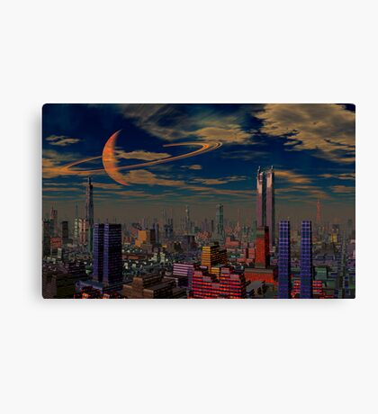 Cities of the Fourth Millennium-Titan City. Canvas Print
