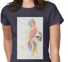 watercolor of a woman Womens Fitted T-Shirt