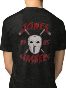 Jones Slashers Mask & CrossSticks Tri-blend T-Shirt