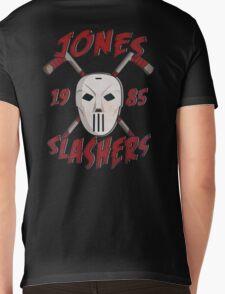 Jones Slashers Mask & CrossSticks Mens V-Neck T-Shirt