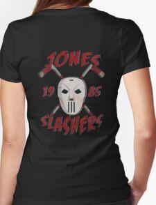 Jones Slashers Mask & CrossSticks Womens Fitted T-Shirt