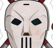 Jones Slashers Mask & CrossSticks Sticker