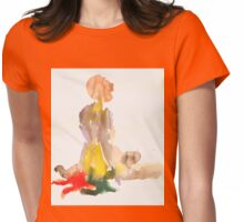 nude2 Womens Fitted T-Shirt