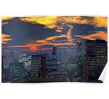 Titan City Sunset Poster