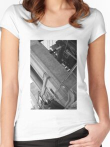 Falling Building Women's Fitted Scoop T-Shirt