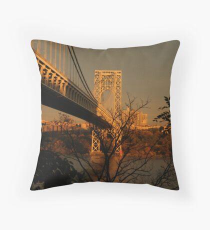 The George Washington Bridge Throw Pillow