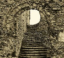 STEPS  - CASTLE ACRE PRIORY RUINS - NORFOLK by ANNETTE HAGGER