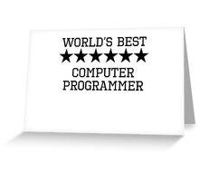 World's Best Computer Programmer Greeting Card