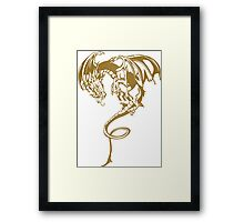 Flying dragon Framed Print