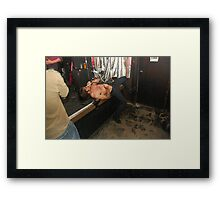 On a bed of broken glass Framed Print