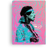 Jimi Hendrix - Psychedelic Sixties by Pepe Psyche Canvas Print