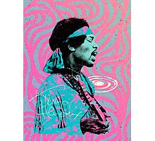 Jimi Hendrix - Psychedelic Sixties by Pepe Psyche Photographic Print