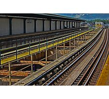 Happy Train Station Photographic Print