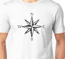 Compass Rose NESW Vintage Unisex T-Shirt