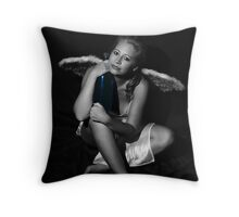 Even Angels Get the Blues Throw Pillow