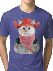 Rodeo Cat Tri-blend T-Shirt