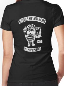 Shells of Anarchy Women's Fitted V-Neck T-Shirt