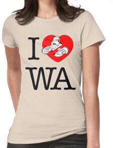 I PNW:GB WA (white) v2 Womens Fitted T-Shirt
