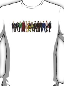 Doctor Who - The 13 Doctors (alternate lineup) T-Shirt