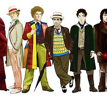 Doctor Who - The 13 Doctors (alternate lineup) by Chris Singley